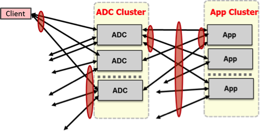 ARCHITECTING FOR CLUSTERS OF ADCS AND APPLICATION MICROSERVICES